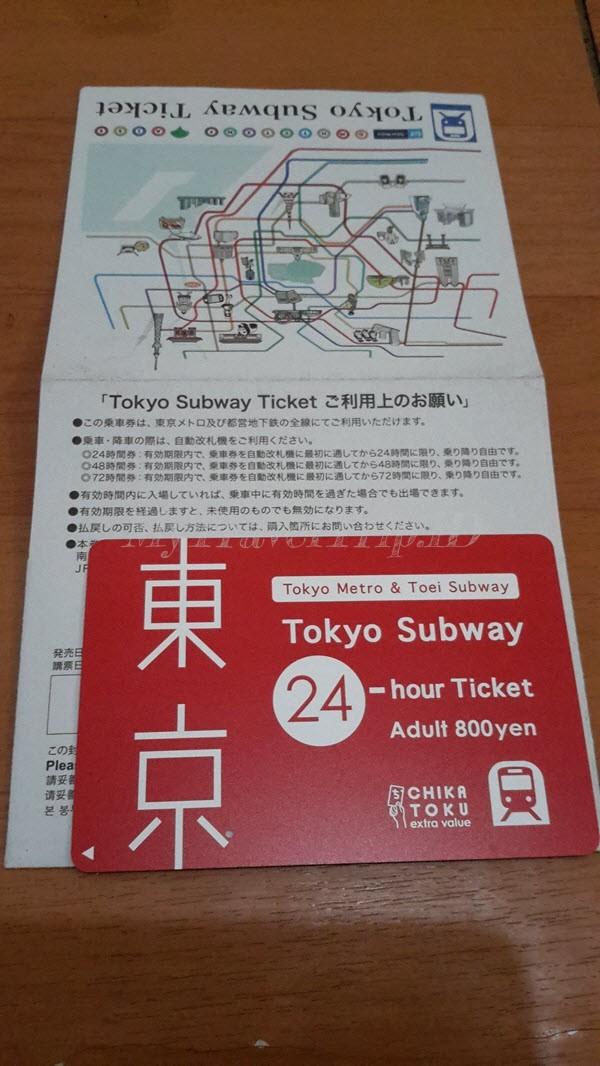 24 Hours Tokyo Subway Pass