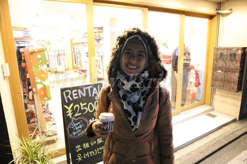 Kios Untuk Sewa Kimono di Gion