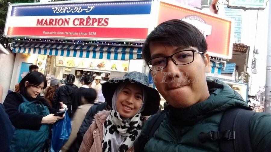 Toko Crepes Legendaris di Harajuku Street