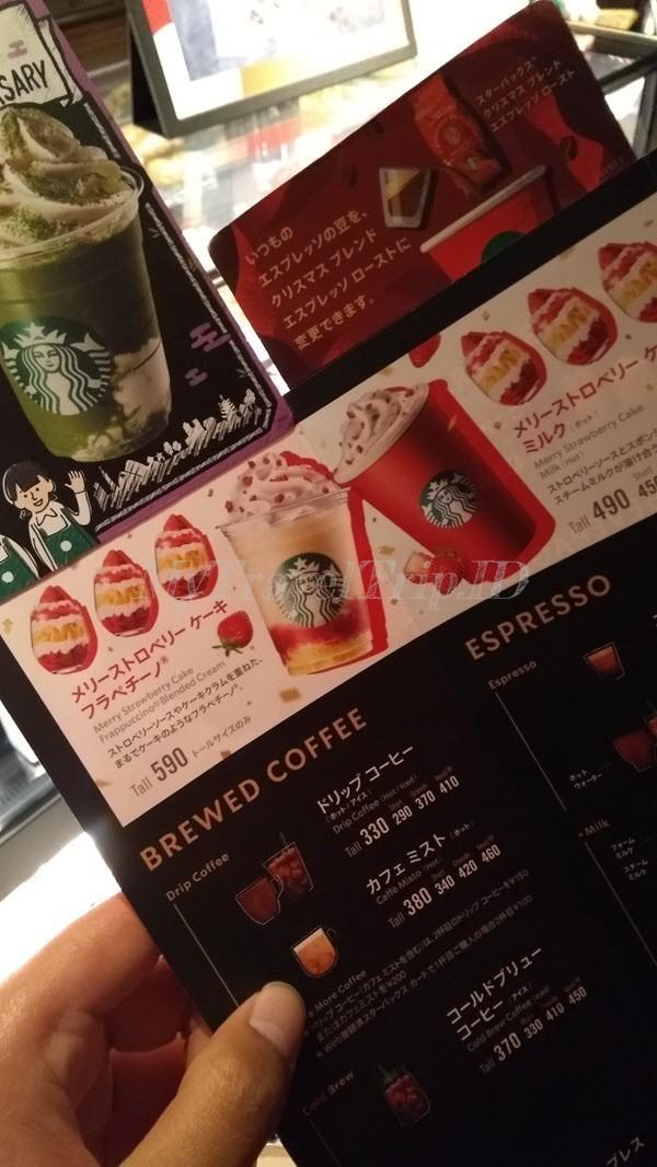 Menu Minuman di Starbucks Ninenzaka