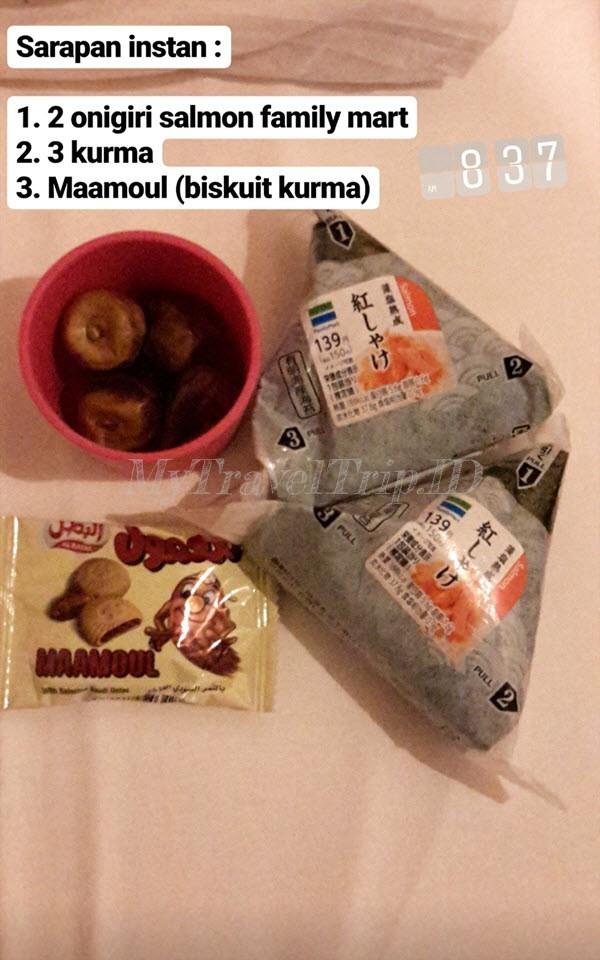 Makana Setiap Hari Selama di Jepang